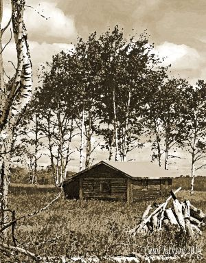 Cabin Painting in Sepia.jpg